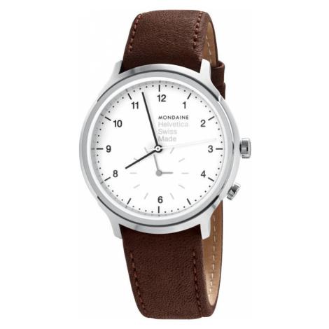 Mens Mondaine Helvetica Regular 2nd Time Zone Watch