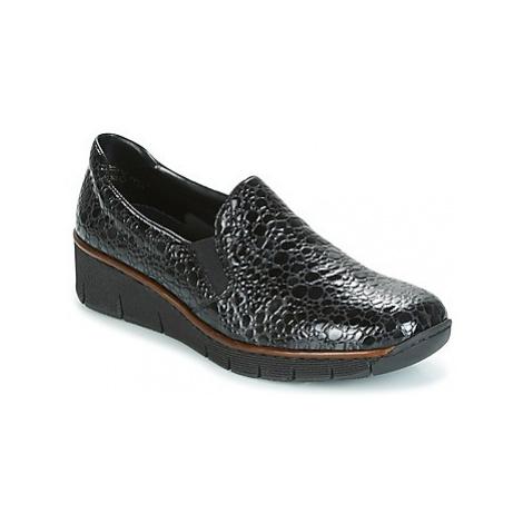 Rieker LLOYD women's Loafers / Casual Shoes in Black