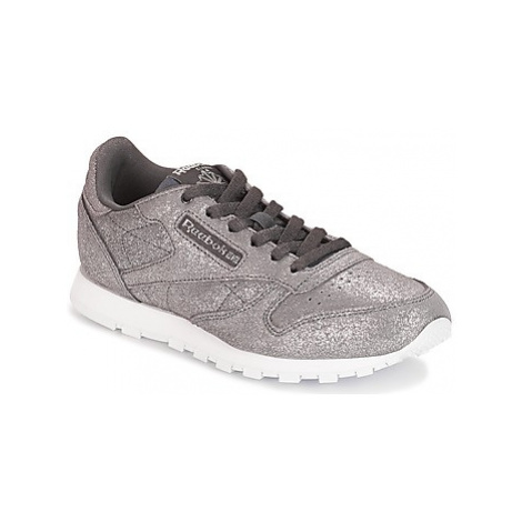 Reebok Classic CLASSIC LEATHER J girls's Children's Shoes (Trainers) in Grey