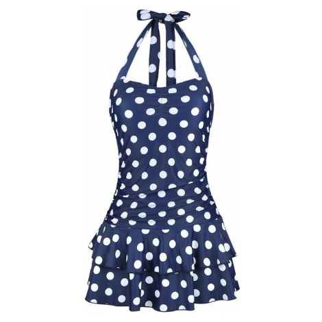 Pussy Deluxe Classic Summer Swimsuit Swim Dress blue white