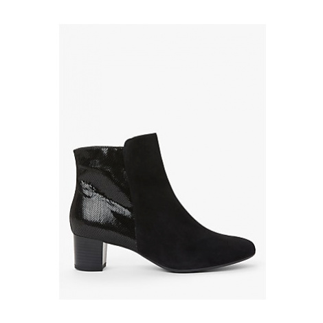 Peter Kaiser Odilie Suede Croc Ankle Boots