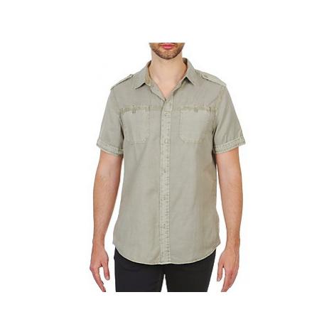 Chevignon HOOP TWILL men's Short sleeved Shirt in Beige