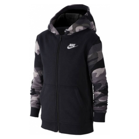Nike NSW FZ CLUB AOP2 black - Boys' sweatshirt