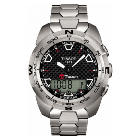Mens Tissot T-Touch Expert Titanium Alarm Chronograph Watch T0134204420100