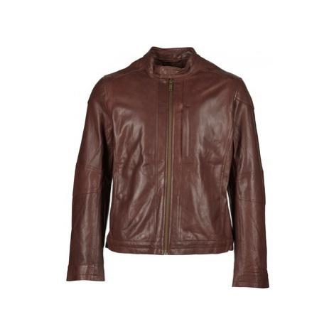 Chevignon B-WORK men's Leather jacket in Brown