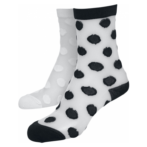 Urban Classics - Net Socks Dots 2-Pack - Socks - black-white