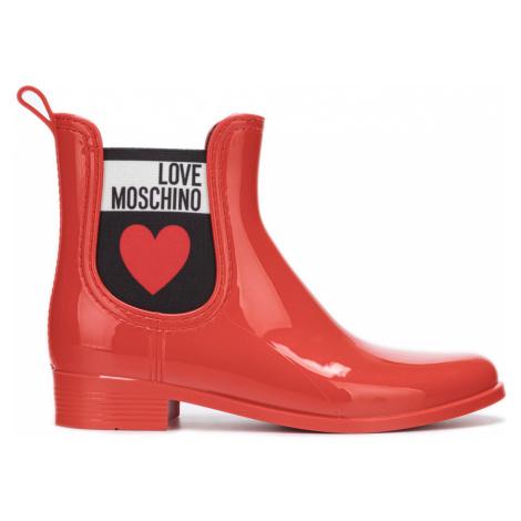 Love Moschino Rain boots Red
