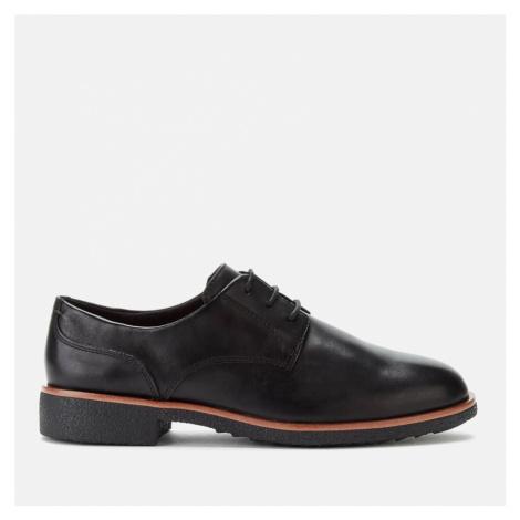 Clarks Women's Griffin Lane Leather Derby Shoes - Black - UK