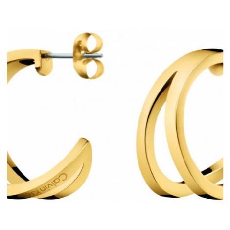 Ladies Calvin Klein Gold Plated Outline Earrings KJ6VJE100100