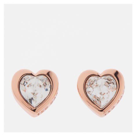 Ted Baker Women's Han Swarovski Crystal Heart Earrings - Rose Gold/Crystal