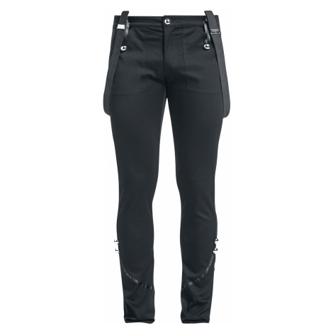 Banned - Military Drummer Trousers - Pants - black