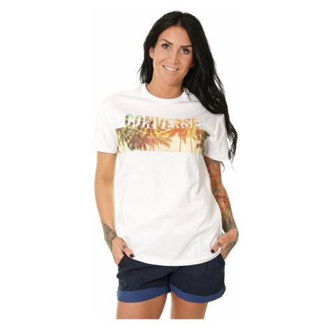 T-Shirt Converse Palm Tree Wordmark Crew/10008490 - A03/White - women´s