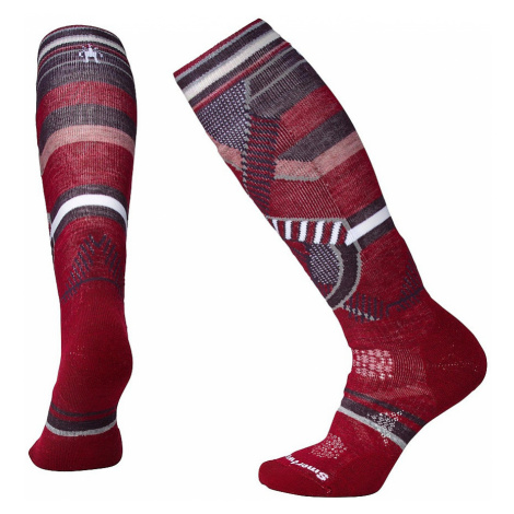 socks Smartwool PhD Ski Medium Pattern - Tibetan Red - women´s