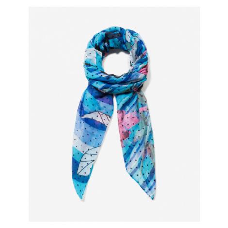 Desigual Floresrayadas Scarf Blue