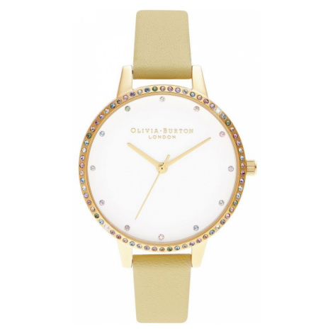 Ladies Olivia Burton Rainbow Bezel, Sunshine & Gold Watch