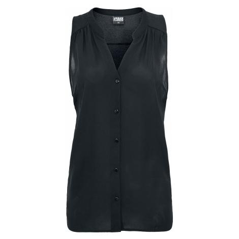 Urban Classics - Ladies Sleeveless Chiffon Blouse - Blouse - black