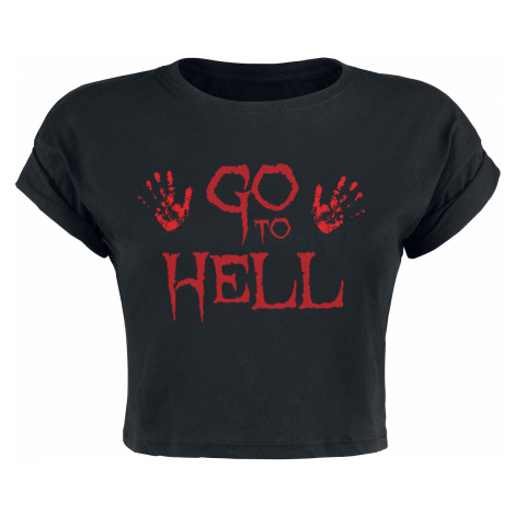 Go To Hell Cropped Top - - Girls Top - black