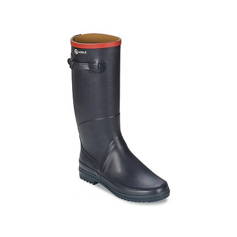 Blue women's rubber boots