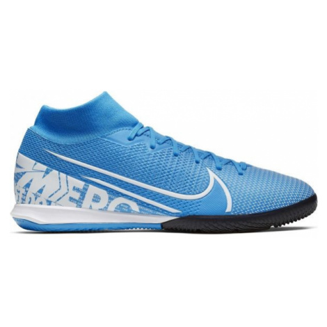 Nike MERCURIAL SUPERFLY 7 ACADEMY IC blue - Men's indoor shoes
