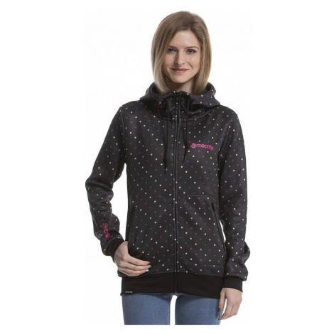 sweatshirt Meatfly Omni 3 Zip - A/Black/Rainbow Dot - women´s