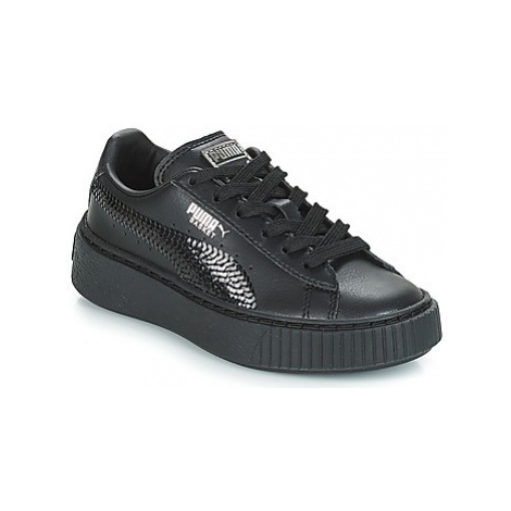 Puma G PS B PLATFORM BLING.BLK girls's Children's Shoes (Trainers) in Black
