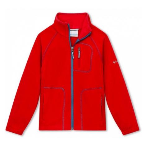 Columbia FAST TREK II FULL ZIP red - Children's sweatshirt