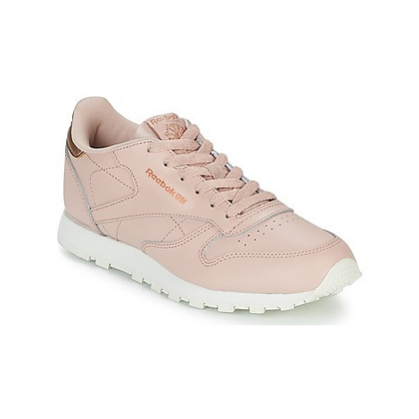 Reebok Classic CLASSIC LEATHER J girls's Children's Shoes (Trainers) in Pink