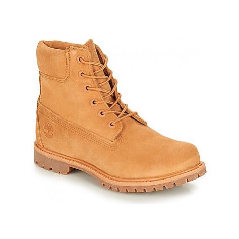 Timberland 6in Premium Suede Boot women's Mid Boots in Beige