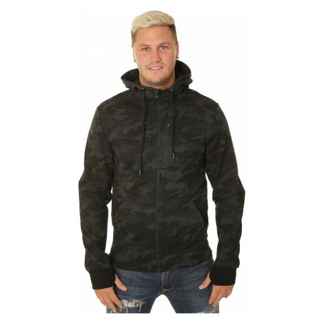 sweatshirt 4F H4Z19-BLM072 Zip - 20A/Deep Black Allover - men´s