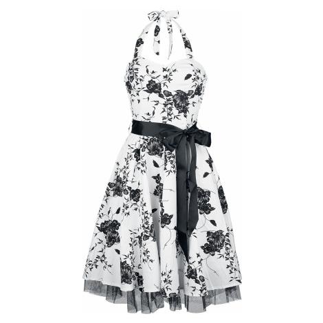 H&R London Floral Long Dress Medium-length dress white black