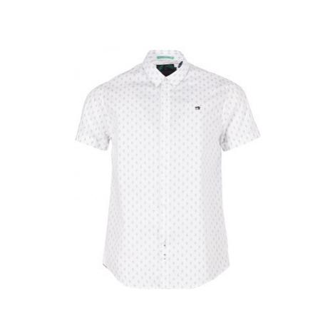 Scotch Soda PERDUEL men's Short sleeved Shirt in White Scotch & Soda
