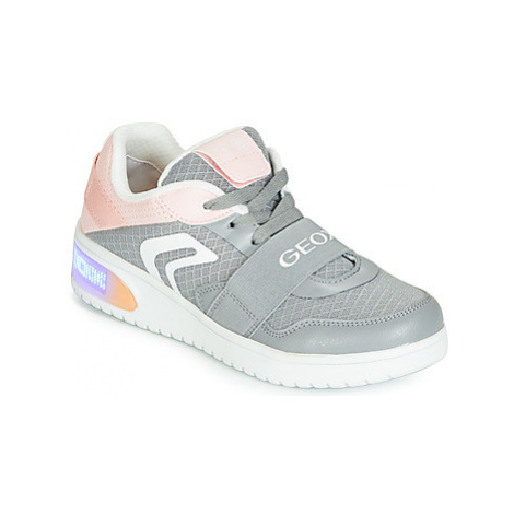 Geox J XLED GIRL girls's Children's Shoes (High-top Trainers) in Grey