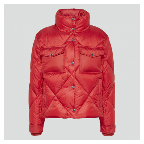 Tommy Jeans Women's Tjw Diamond Quilted Jacket - Wine Red Tommy Hilfiger