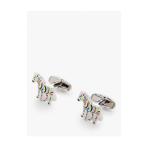 Paul Smith Stripe Zebra Cufflinks, Silver/Multi