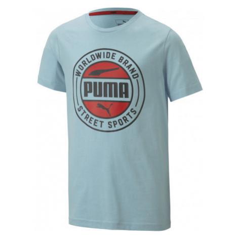 Puma ALPHA SUMMER TEE blue - Boys' sports T-shirt