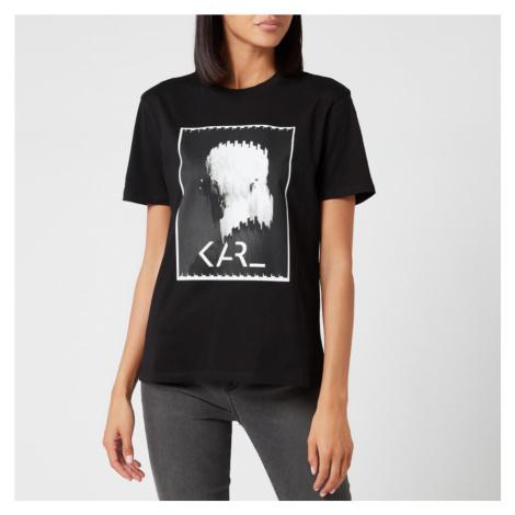 Karl Lagerfeld Women's Karl Legend Print T-Shirt - Black