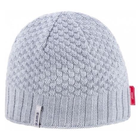 Kama MERINO HAT gray - Knitted hat