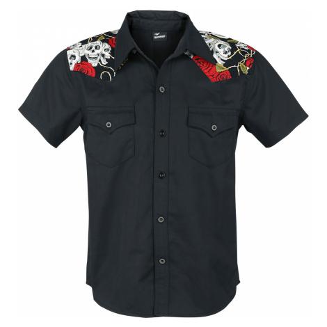 Banned - Skull Rose - Workershirt - black