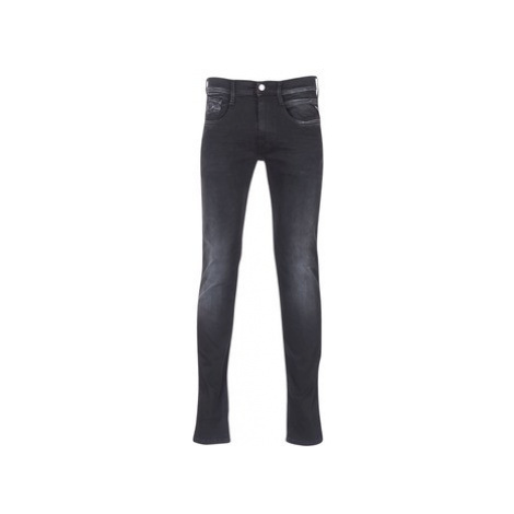 Replay ANBASS HYPERFLEX men's Skinny Jeans in Black