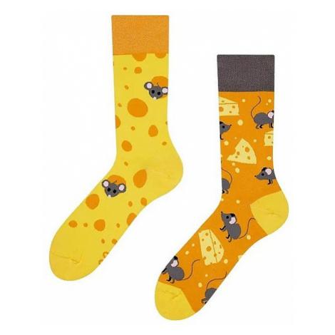 socks Good Mood Cheese - Mustard/Yellow/Gray