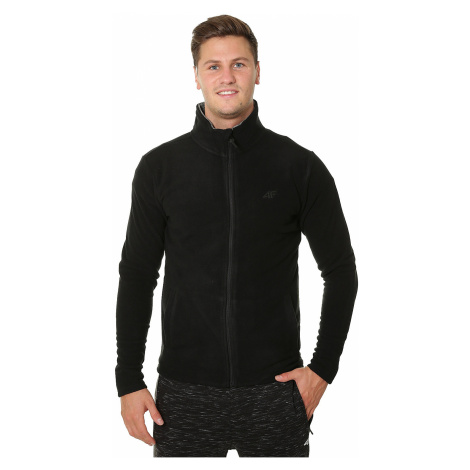 sweatshirt 4F X4Z18-PLM300/Zip - Deep Black - men´s