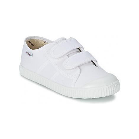 Victoria BLUCHER LONA DOS VELCROS girls's Children's Shoes (Trainers) in White
