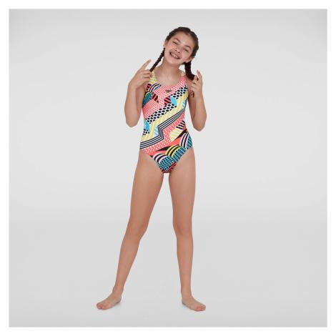 Kids Junior DazzleSpark Leaderback Swimsuit Speedo