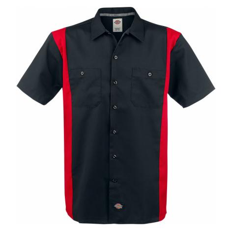 Dickies - Two Tone Work Shirt - Workershirt - black-red