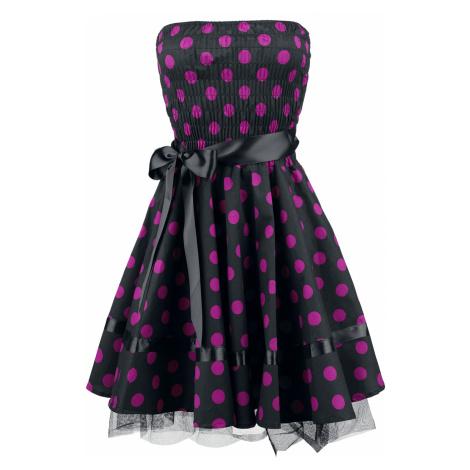 H&R London - Big Purple Dots - Dress - black-pink