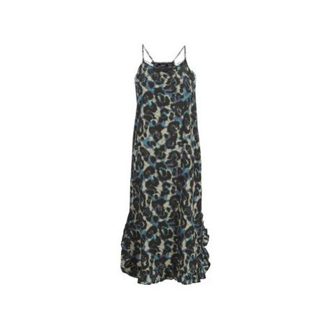Green shoulder strap dresses