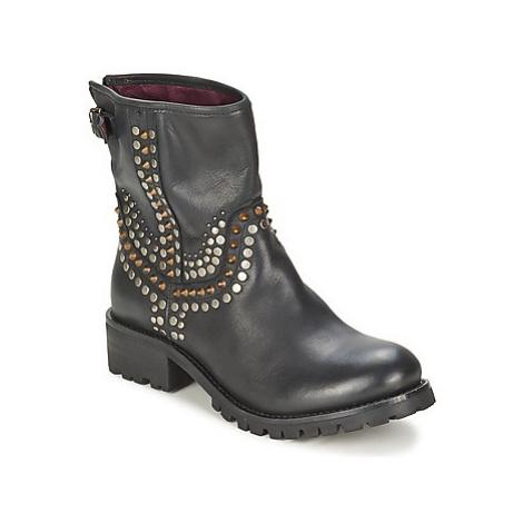 Ikks SEATTLE-PREMIUM women's Mid Boots in Black