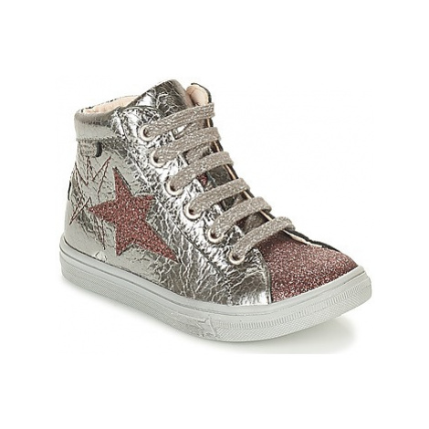 GBB MARTA girls's Children's Shoes (High-top Trainers) in Silver