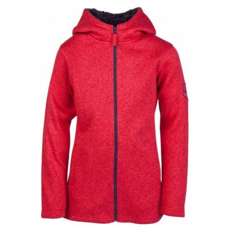Lewro YESEMINA red - Children's fleece sweatshirt