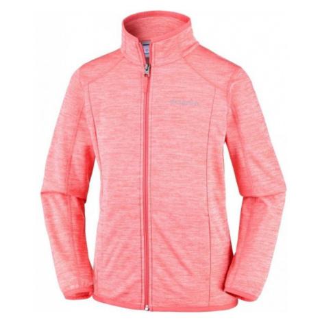 Columbia WILDERNESS WAY FLEECE JACKET pink - Children's fleece sweatshirt